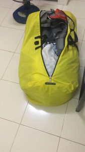 My bright yellow flightbag